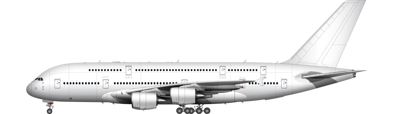 Airbus A380-800 illustration